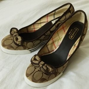 Coach wedges size 9